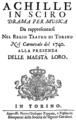 Leonardo Leo - Achille in Sciro - titlepage of the libretto - Turin 1740.png