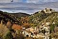 Les hautes-Corbières à l'automne. Vue sur le village de Termes.jpg