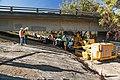 Levee-drilling under the Howe Avenue bridge (15887115935).jpg