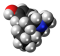 Levorphanol molecule spacefill.png