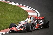 Lewis Hamilton al Gran Premio di Gran Bretagna 2007.