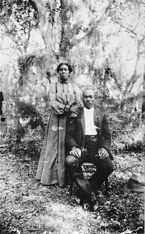 History of Sarasota, Florida - Lewis and Irene Colson, the first black settlers in Sarasota who, in 1884, assisted in surveying the Town of Sarasota.