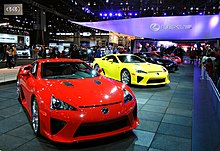 Row Of Lexus LFAs At The 2012 Chicago Auto Show