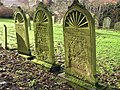 Lichened Tombstones, St. Peter's Churchyard - geograph.org.uk - 1651590.jpg