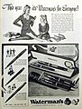 Life Magazine Ad for Waterman's Fountain Pens, Life Magazine, December 7, 1942 (8752344712).jpg
