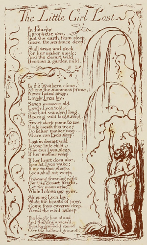 The Little Girl Lost - Image: Life of William Blake (1880), Volume 1, Songs of Experience Little Girl Lost