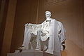 Lincoln Memorial statue at night 2011 2.jpg