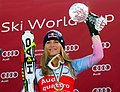 Lindsey Vonn wins World Cup Downhill globe 2010.jpg