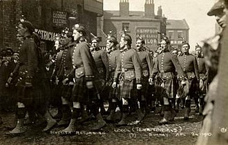 Liverpool Scottish - Image: Liverpool Scottish, 1910