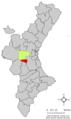 Localització de Dosaigües respecte del País Valencià.png