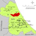 Localització de Xeresa respecte de la Safor.png
