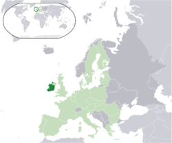 Location of the  Ripablik bilong Aialan  (dark green)– on the European continent  (light green & dark grey)– in the European Union  (light green)
