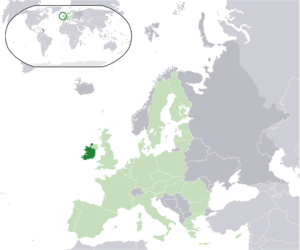 Commemorative coins of Ireland - Location of Ireland