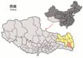 Location of Zogang within Xizang (China).png