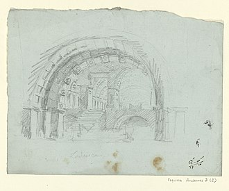 Lodoïska - Sketch for the decor of the second act (1791) by François Verly, after Ignazio Degotti