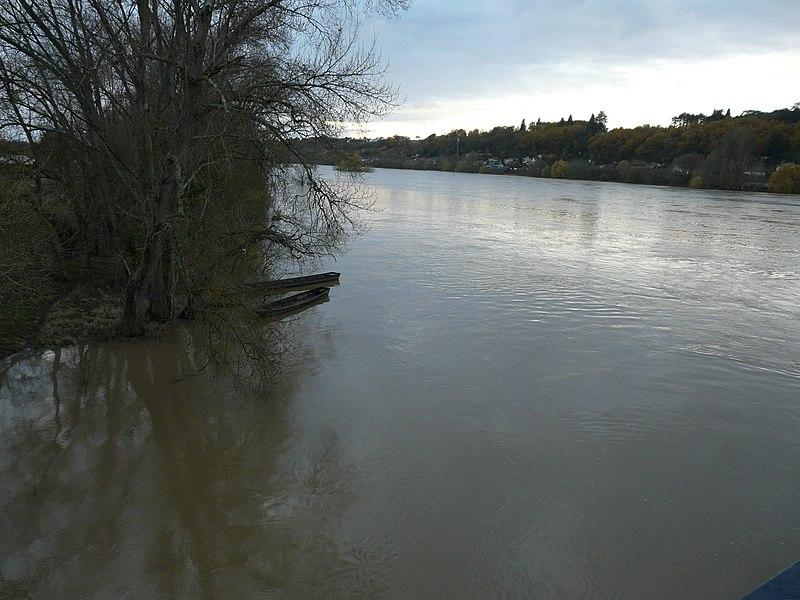 The Loire river at Langeais