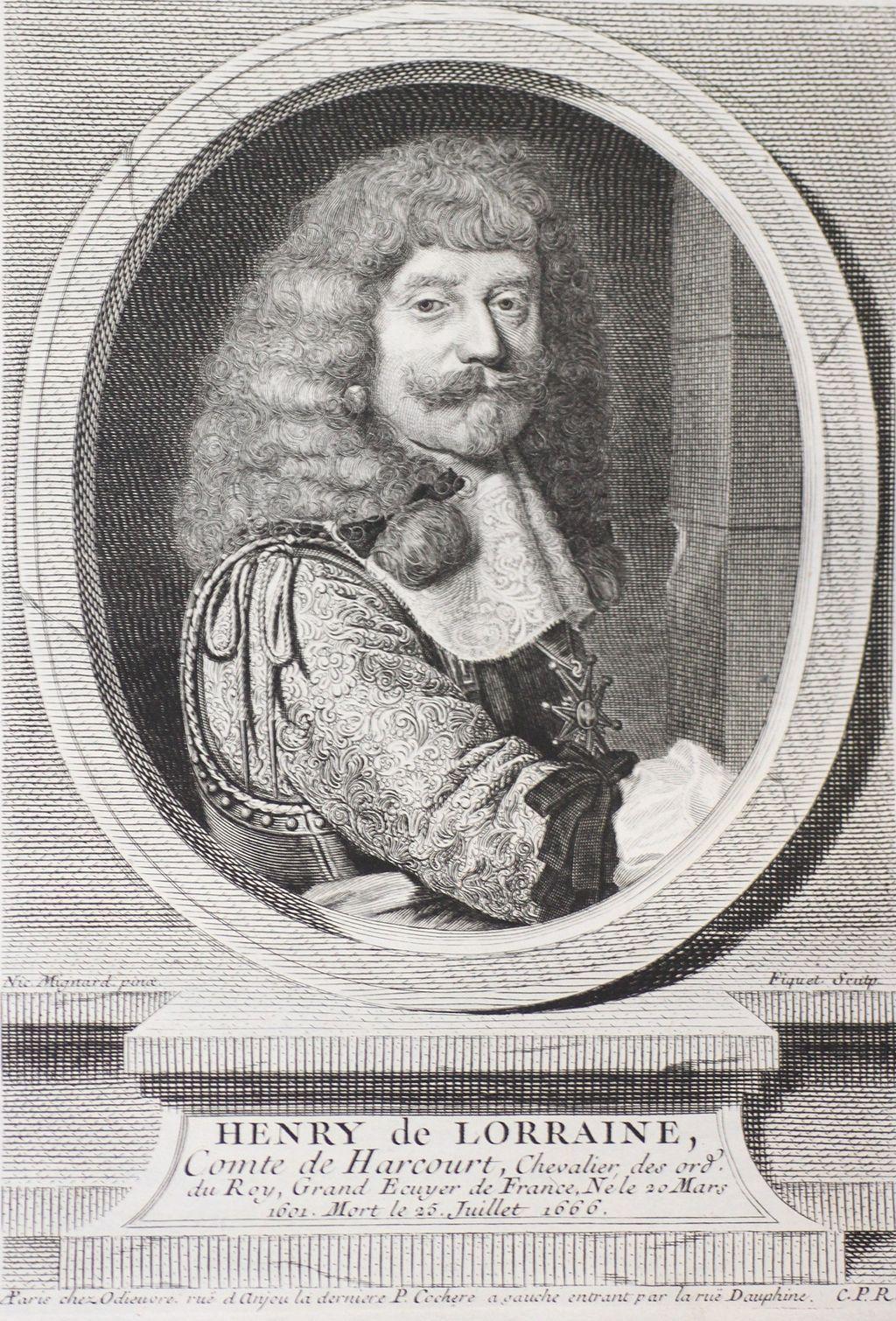 Série de portraits chez Odieuvre, impression 1744