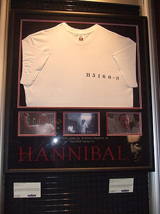 Hannibal (film) - Hannibal Lecter t-shirt worn by Hopkins in Hannibal on display at the London Film Museum