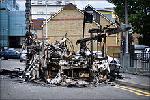 London Riots, burnt-out bus.jpg