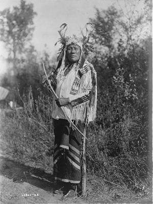 Hidatsa - Long Time Dog, a Hidatsa warrior