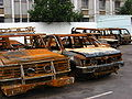 Looted and burned cars, Madagascar, April 2008.jpg