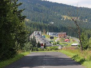 Loučná pod Klínovcem - Image: Loučná pod Klínovcem, road from Měděnec