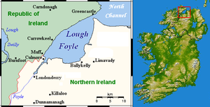 Lough Foyle - Image: Lough Foyle Location