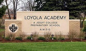 Loyola Academy - Image: Loyola Academy Sign Senor Anderson