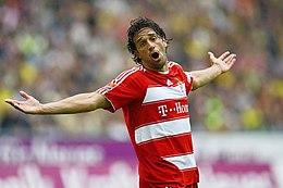 Luca Toni con la maglia del Bayern Monaco