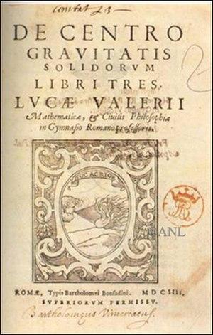 Luca Valerio - De centro gravitatis.