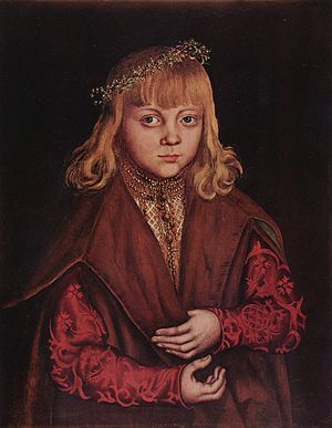 John, Hereditary Prince of Saxony - Portrait thought to be Johann of Saxony