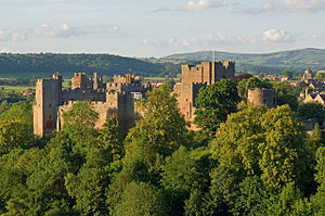 Ludlow - Ludlow Castle built in the late 11th century.