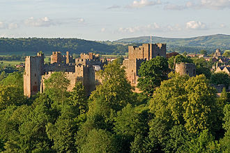Ludlow Castle - Ludlow Castle from the south-east