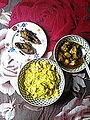 Lunch with Khichuri, Ilish fry and a curry.jpg