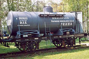 Imperial Royal Privileged Austrian State Railway Company -  StEG tank wagon in the Lužná u Rakovníka Railway Museum