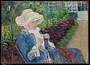 Lydia Crocheting in the Garden at Marly MET DP165250.jpg