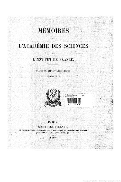 File:Mémoires de l'Académie des sciences, Tome 48.djvu