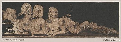 Même fronton- Typhon Musée de l'Acropole - Baud-bovy Daniel Boissonnas Frédéric - 1919
