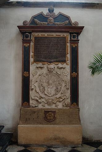 Church of St. James (Brno) - Grave of Florián Pravětic z Radvanova and his wife Boženy Střelické ze Střelic
