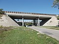 M6 and Route 6 and 7 (Hungary) overpass bridges at Felső Street, Érd.jpg