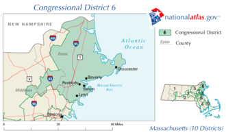 United States House of Representatives elections in Massachusetts, 2010 - Image: MA 06 congressional district