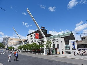 Musée d'art contemporain de Montréal - The museum seen from Place des Festivals plaza