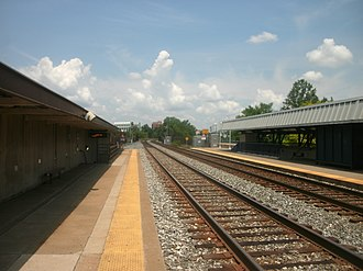 Rockville station - Amtrak/MARC platforms in 2012