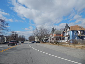 Ridgely, Maryland - Downtown Ridgely in March 2015.