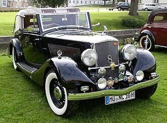 Cobham, Surrey - A 1936 Railton Straight Eight. Altogether 1379 of the Railton 8s were made.