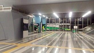 Bandar Utama MRT station - Concourse level of the station.