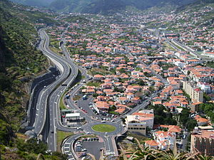 Machico, Madeira - A hub of eastern traffic, Machico is cris-crossed by high-capacity freeways connecting it to settlements in the west
