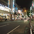 Machida station road at night.jpg