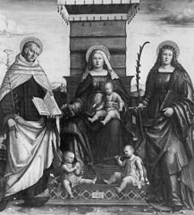 Madonna and Child with Saint Albert and Saint Catherine