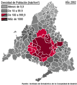 Area Metropolitana De Madrid Wikipedia La Enciclopedia Libre
